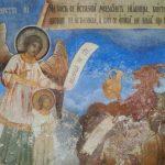 Frescoes in the pronaos of Rila monastery