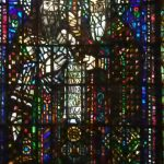 The stained glass with Ciryl and Methodius, the creators of the first slavic alphabet