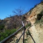 The ecotrail over the rocky pyramids